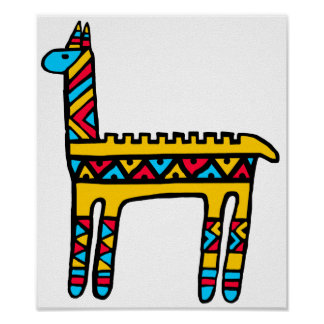 Llama-colores Poster