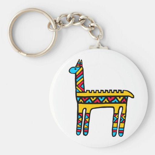 Llama-colors Keychain