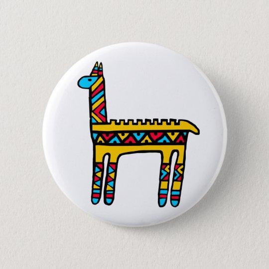 Llama-colors Pinback Button