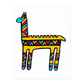 Llama-colors Postcard