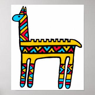 Llama-colors Posters