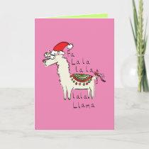 Llama Cute Funny Christmas Holiday Card