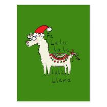 Llama Cute Funny Christmas Holiday Postcard