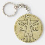 Llama da Vinci Llavero Personalizado