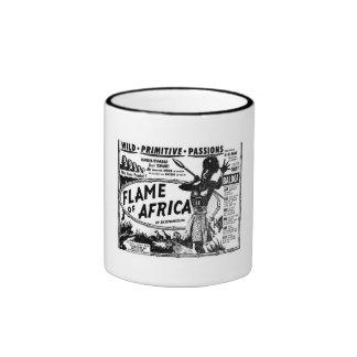 Llama de África Taza De Dos Colores