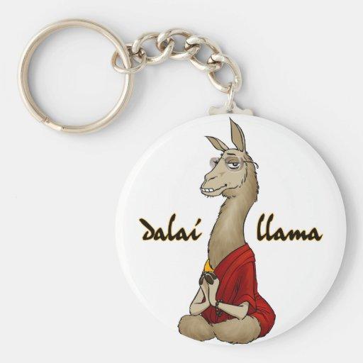Llama de Dalai Llavero Redondo Tipo Pin