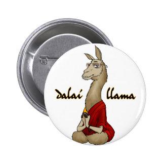 Llama de Dalai Pin Redondo De 2 Pulgadas