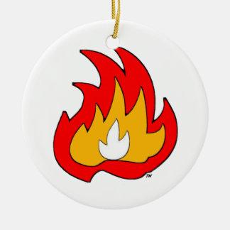 Llama de Gurl de la llama Adorno Navideño Redondo De Cerámica