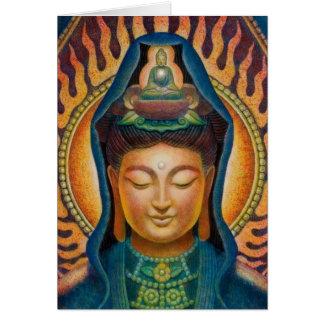 Llama de Kuan Yin de la diosa Tarjeta De Felicitación