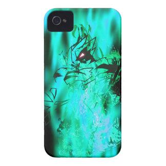 Llama de la aguamarina del tigre funda para iPhone 4