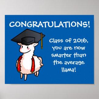 Llama de la graduación póster