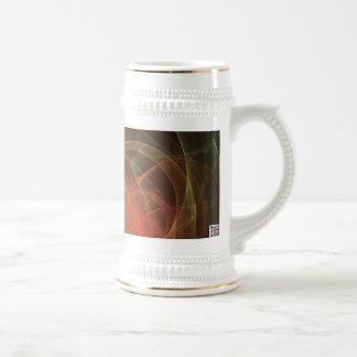 Llama de la magia del arte abstracto taza