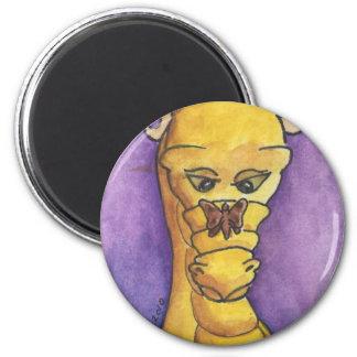 Llama de la polilla 2 imán redondo 5 cm