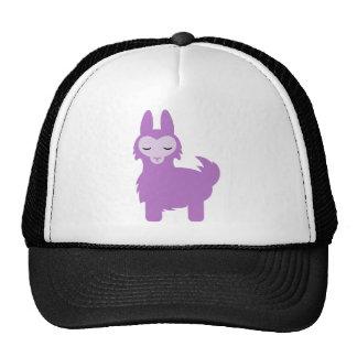 Llama de la púrpura de Kawaii Gorras De Camionero