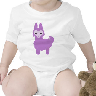 Llama de la púrpura de Kawaii Trajes De Bebé