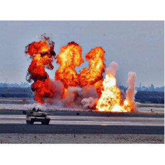 Llama de las explosiones escultura fotografica