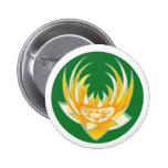 Llama de LOTUS en base verde Pin