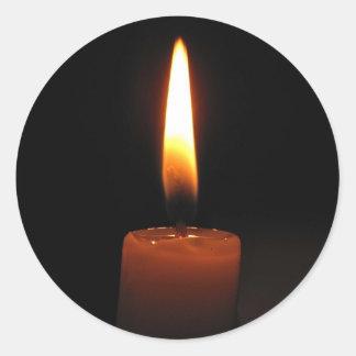 Llama de vela etiqueta redonda
