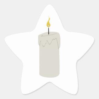 Llama de vela pegatina en forma de estrella