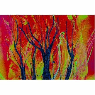 llama del árbol spraypainting