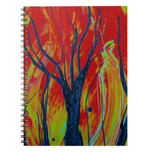 llama del árbol spraypainting libro de apuntes