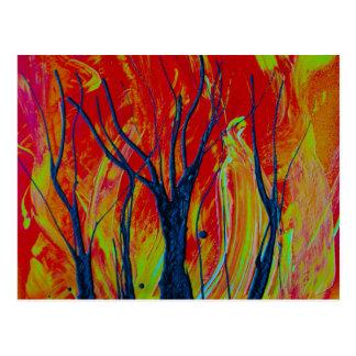 llama del árbol spraypainting postales