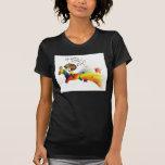 Llama del arco iris camisetas