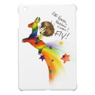 Llama del arco iris iPad mini protectores