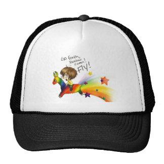 Llama del arco iris gorra
