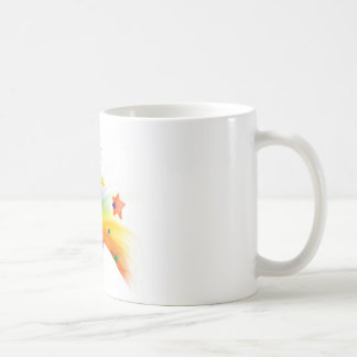 Llama del arco iris taza de café