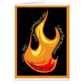 Llama del cinturón de Fuego 2012 Tarjeta De Felicitación