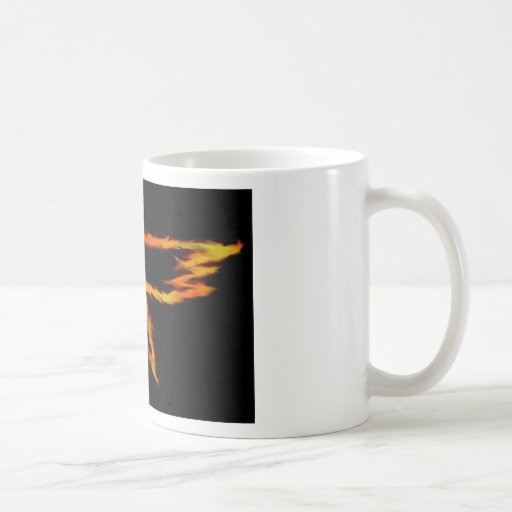 Llama del cuervo taza de café