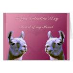 Llama del doube del corazón del día de San Valentí Felicitacion