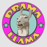 Llama del drama, etiquetas redondas
