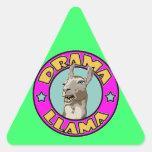 Llama del drama, calcomanía de triangulo personalizadas