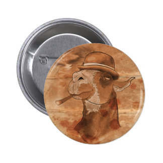 Llama del drama sepia - 2 25 botón circular pins