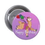 ¡Llama del feliz cumpleaños! Pin Redondo 5 Cm