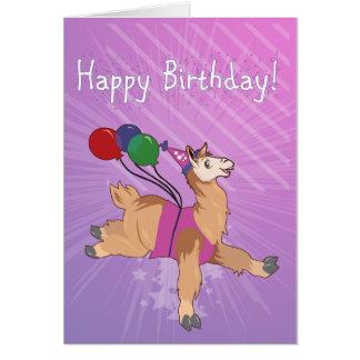 ¡Llama del feliz cumpleaños! Tarjeta De Felicitación