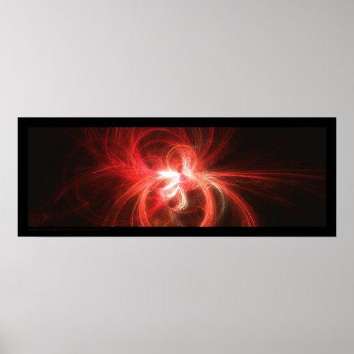 Llama del fractal: Rojo Póster