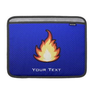 Llama del fuego; Azul Funda Macbook Air