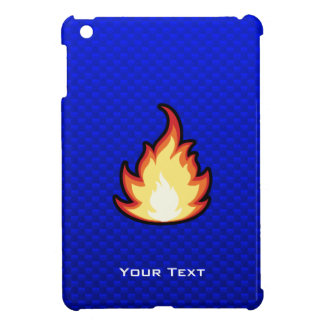 Llama del fuego Azul iPad Mini Fundas