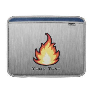 Llama del fuego; Metal-mirada Funda Macbook Air