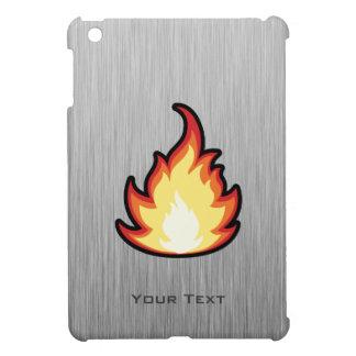 Llama del fuego Metal-mirada iPad Mini Funda