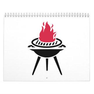 Llama del fuego rojo del Bbq Calendarios