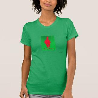 Llama del navidad: Llama en verde rojo de w - Playera