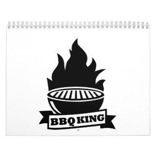 Llama del rey del Bbq Calendario