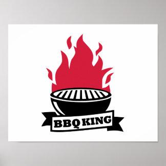 Llama del rojo del rey del Bbq Poster