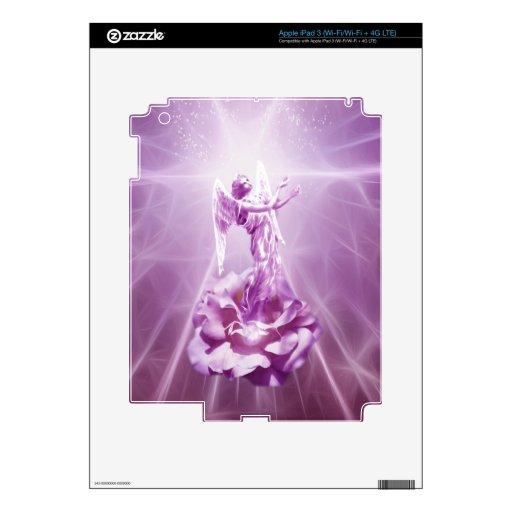 Llama del rosa color de rosa del amor iPad 3 pegatina skin