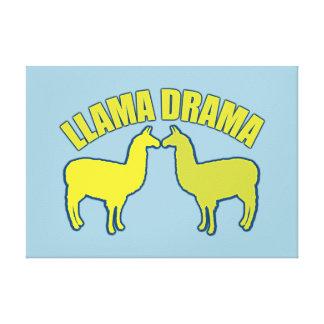 Llama Drama Canvas Print