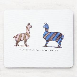 llama dress mouse pad